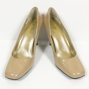 Me Too Nude Patent Pumps (Size 9) - NWOT